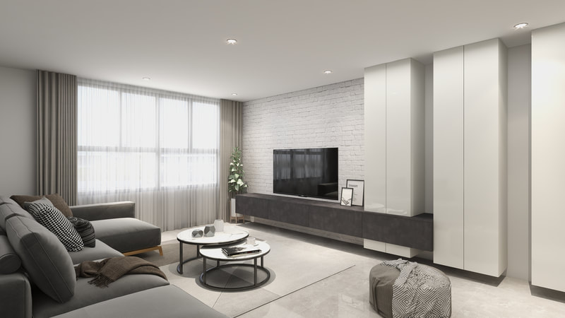 Effective Surfaces Living Room