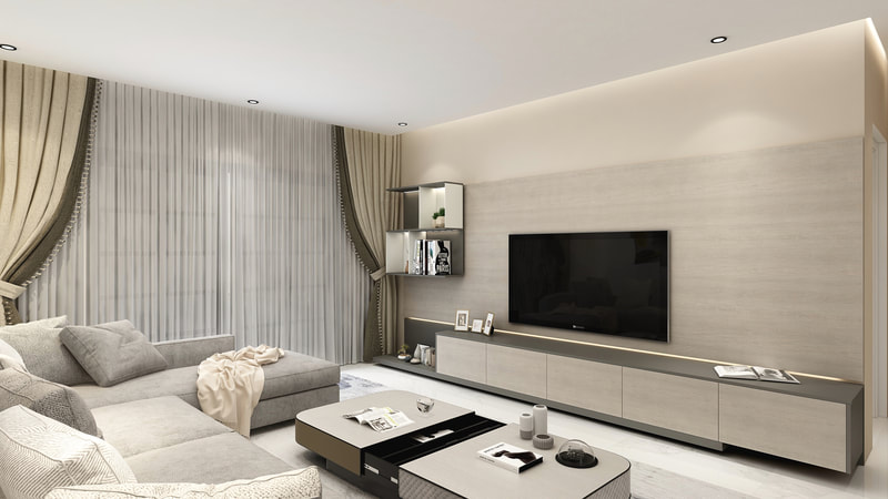 Neutral Tone Living Room